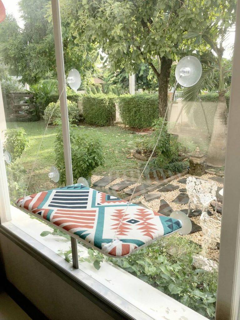 Designer cat hammocks for windows byByAdissara on Etsy