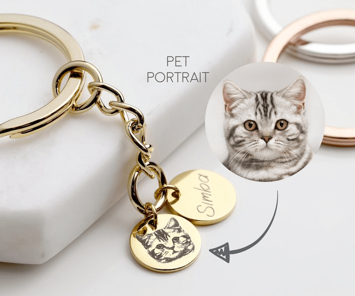 Mignon and Mignon personalised braslet with a photo of a cat
