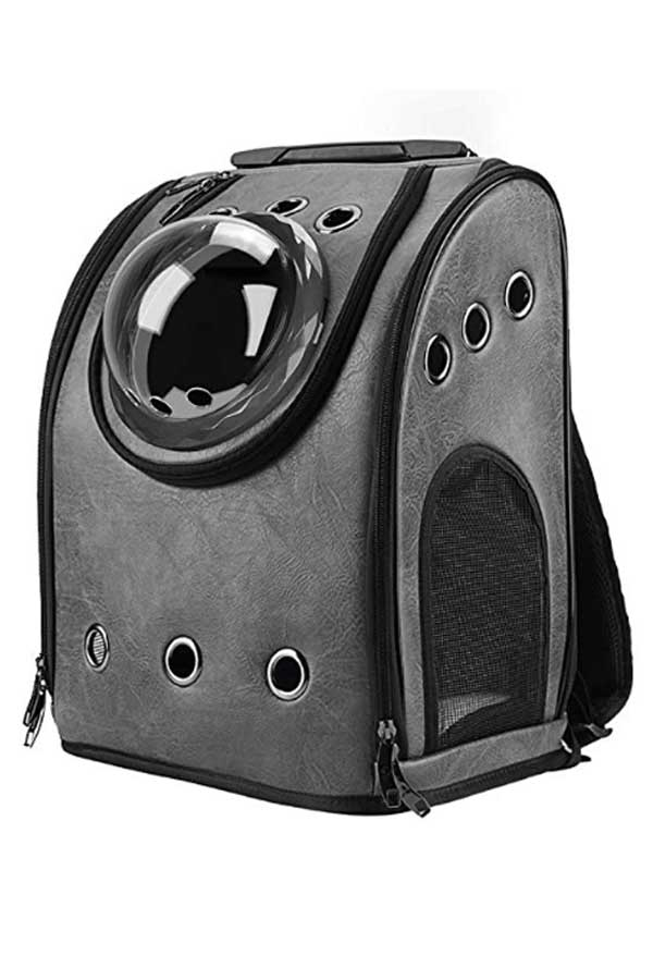 Grey cat backpack bubble by Texens on Amazon