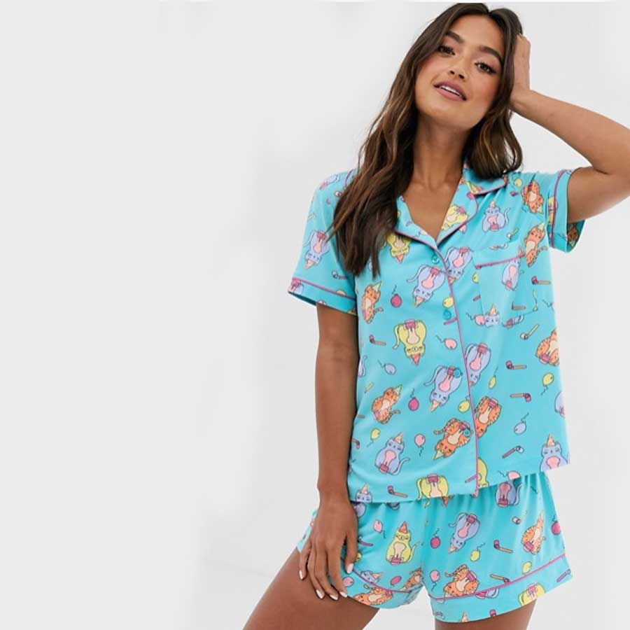 Chelsea Peers Party Cat short PJ
