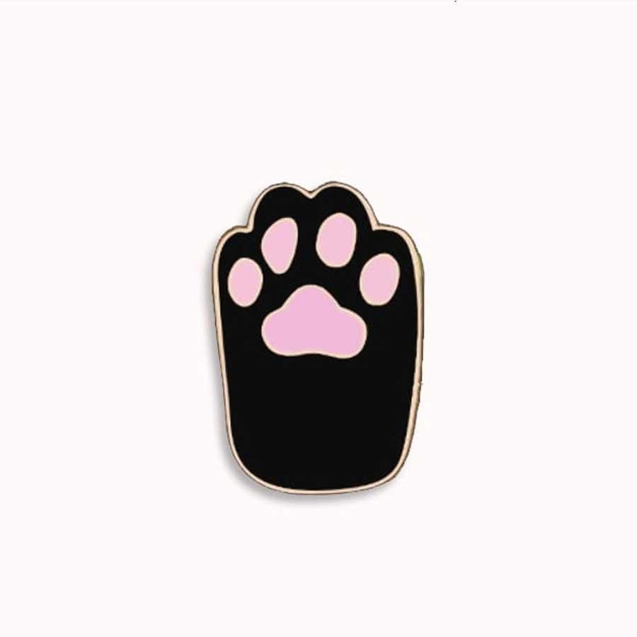 Kitten paw pin
