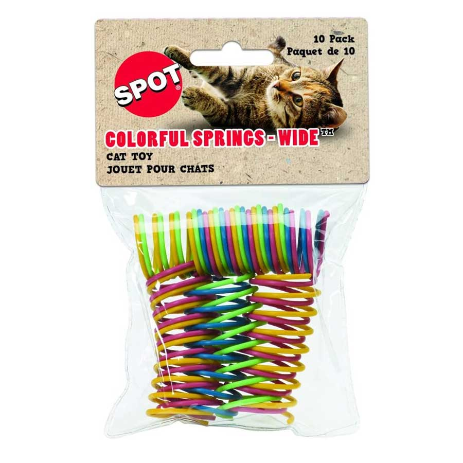 A photo of colorful spring roy for cats by Ethical Pets