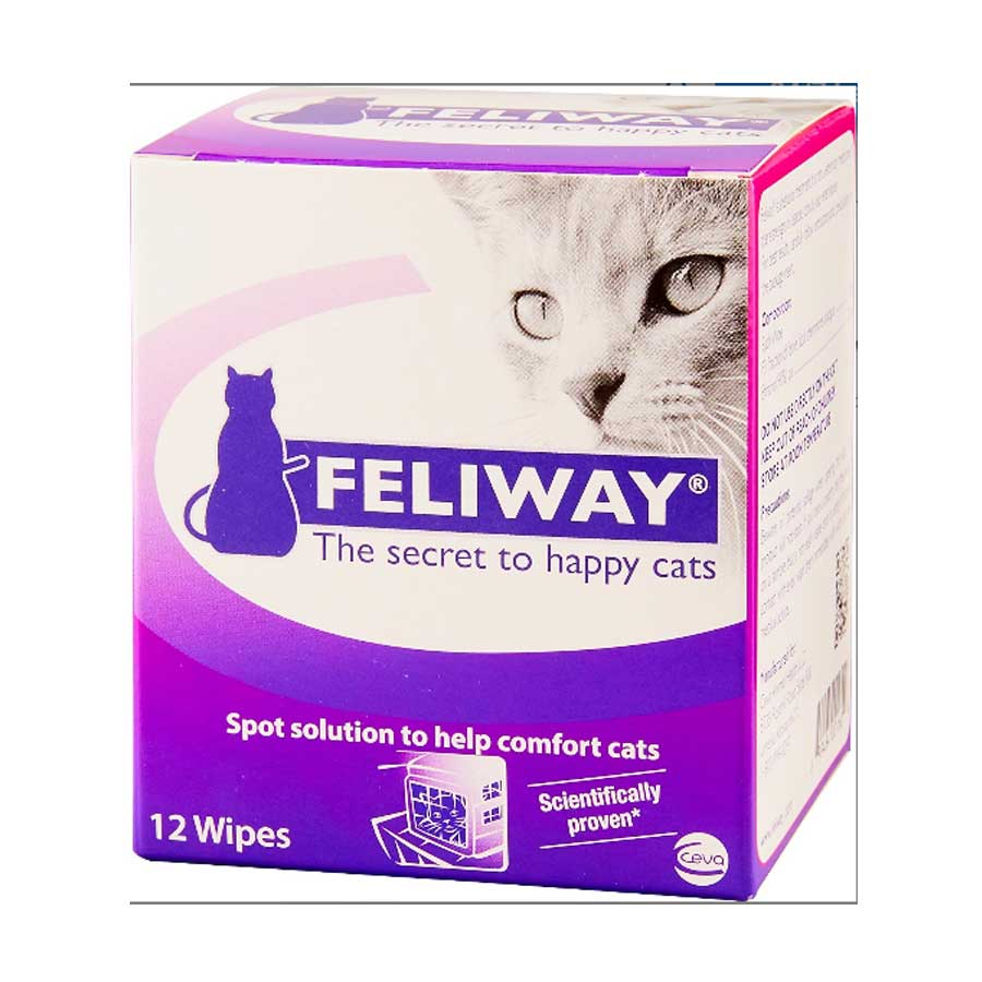 A picture of Feliway wipes for cats that is available on Chewy