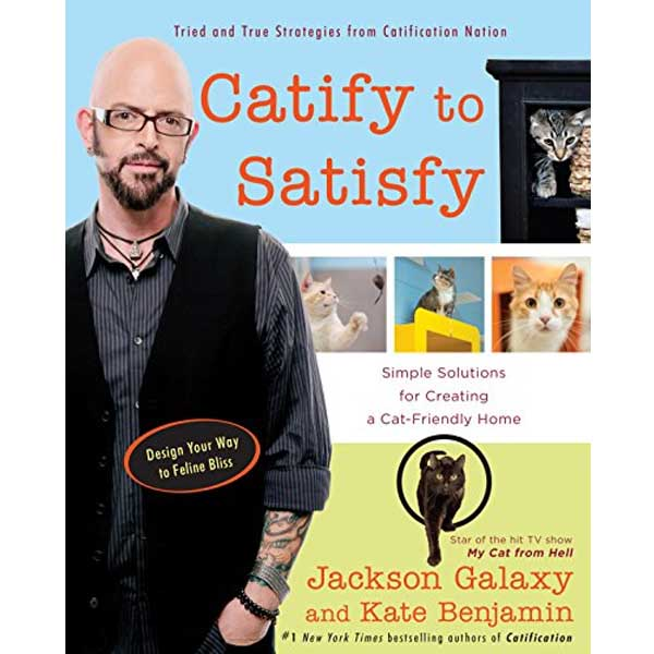 Jackson Galaxy with images of happy cats