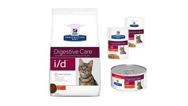 Hill i/d cat food for cats with gastrointestinal problems