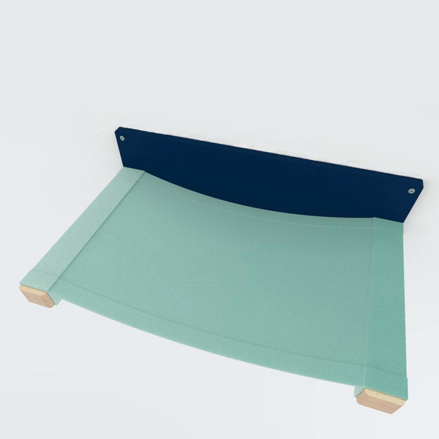light green wall mounted cat hammock