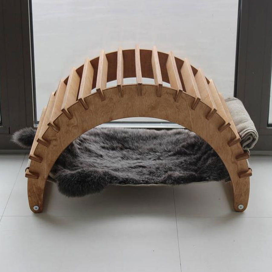 A luxury cat hammock in the form of a pergola